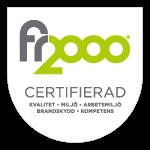 grå och grön logotyp för företags kvalitetsarbete